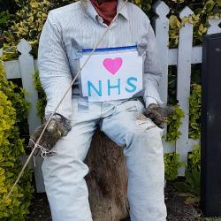 NHS hero scarecrow
